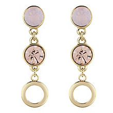 Guess Gold-Plated 2 Stone Drop Earrings - Product number 4460863