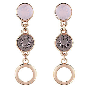 Guess Rose Gold-Plated 2 Stone Drop Earrings - Product number 4460952