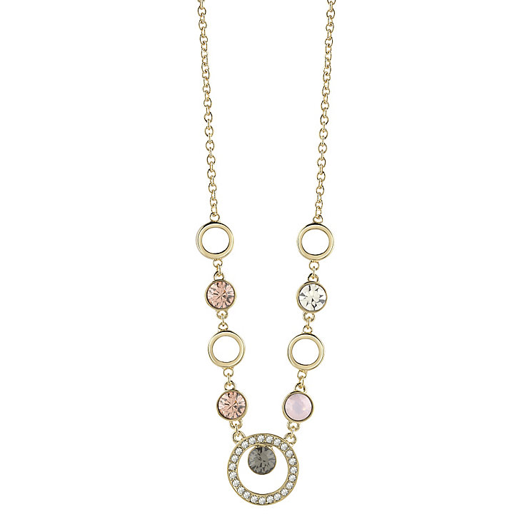 "Guess Gold-Plated 5 Stone Circle Necklace 16""-18"" - Product number 4460960"