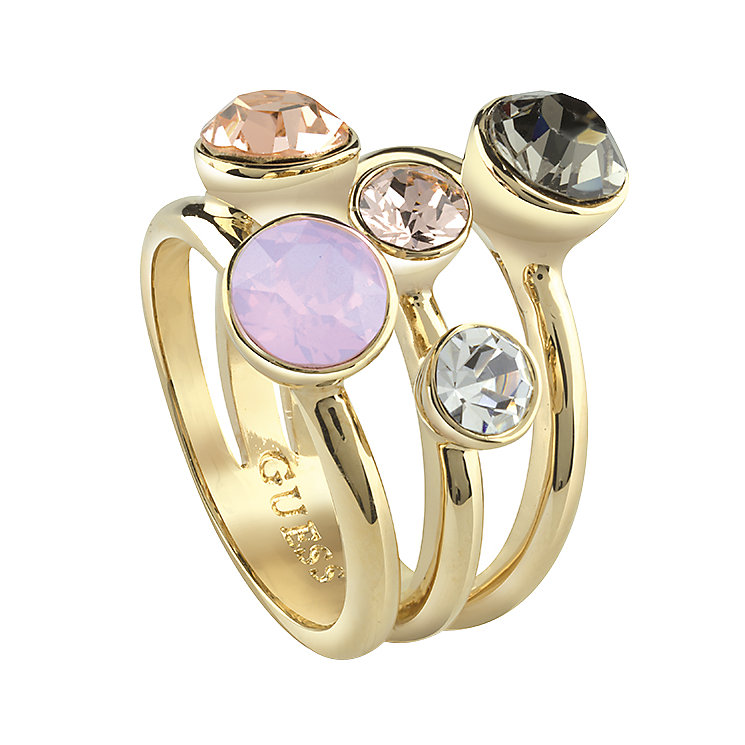 Guess Gold-Plated 3 Part 5 Stone Ring - Product number 4461061