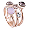 Guess Rose Gold-Plated 3 Part 5 Stone Ring - Product number 4461088
