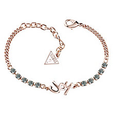 Guess Rose Gold-Plated Stone Set Joy Adjustable Bracelet - Product number 4461096