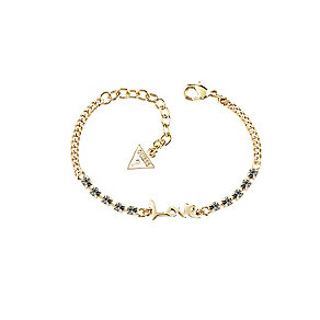 Guess Rhodium-Plated Stone Set Love Adjustable Bracelet - Product number 4461177