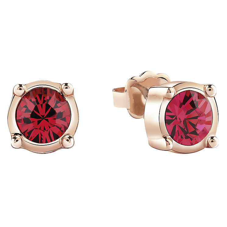 Guess Rose Gold-Plated Single Stone Stud Earrings - Product number 4461266