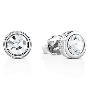 Guess Rhodium-Plated Solitaire Stud Earrings - Product number 4461274