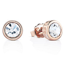 Guess Rose Gold-Plated Solitaire Stud Earrings - Product number 4461304