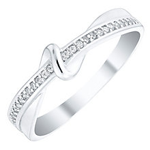 Sterling Silver Cubic Zirconia Fancy Swirl Ring Size L - Product number 4462505