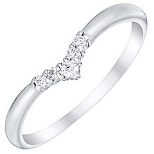 Sterling Silver Cubic Zirconia Set Wishbone Ring Size P - Product number 4462998