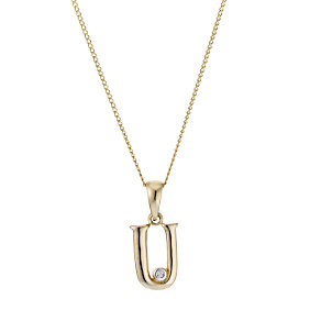9ct Yellow Gold Letter Pendant U - Product number 4464877