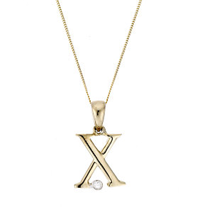 9ct Yellow Gold Letter Pendant X - Product number 4464907