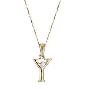 9ct Yellow Gold Letter Pendant Y - Product number 4464915