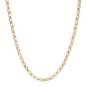 Gold Belcher Necklace 20