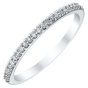 Ladies' Platinum 1/10 Carat Diamond Straight Band - Product number 4470141
