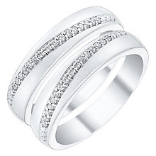 Love True 9ct White Gold Diamond Wedding Ring Set - Product number 4471857
