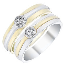 Love True 9ct Gold & White Gold Diamond Wedding Ring Set - Product number 4471903