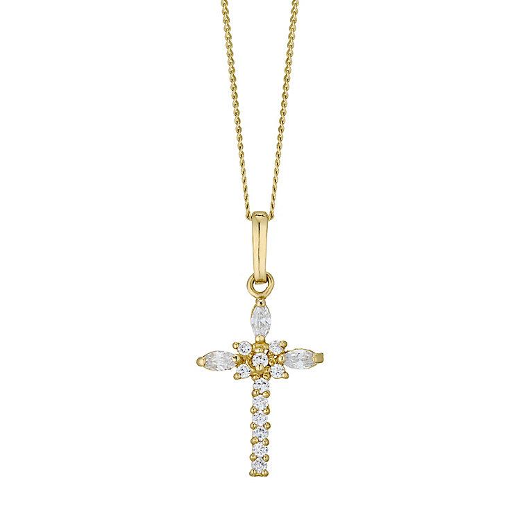 9ct Gold Cubiz Zirconia Fancy Cross - Product number 4472063