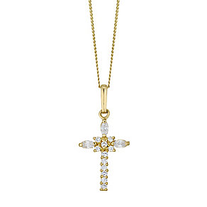 9ct Gold Cubiz Zirconia Fancy Cross - Product number 4472063
