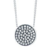 Evoke Rhodium Plated Black Crystal Pendant - Product number 4474511