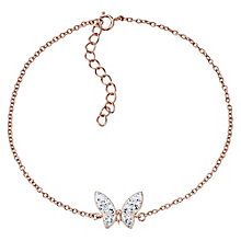Evoke Rose Gold Plated Crystal Butterfly Bracelet - Product number 4475097