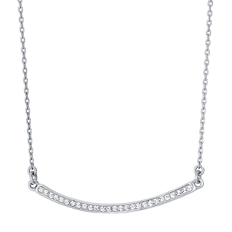 Evoke Silver Rhodium-Plated Crystal Bar Necklace - Product number 4475194