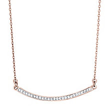 Evoke Silver Rose-Plated Crystal Bar Necklace - Product number 4475631