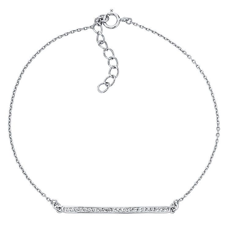 Evoke Rhodium Plated Crystal Bar Bracelet - Product number 4475801