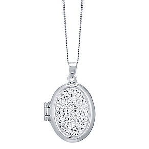 Evoke Silver Crystal Locket - Product number 4475860