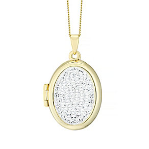 Evoke Silver & Gold Crystal Locket - Product number 4475879