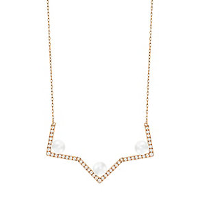 Swarovski Edify Rose Gold Plated Necklace - Product number 4477286
