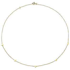 9ct Gold Delicate Hearts Necklace - Product number 4477294
