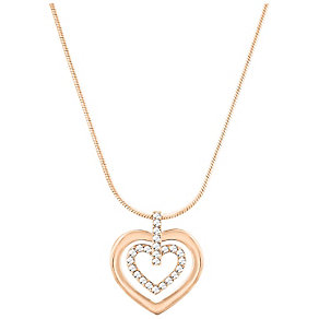 Swarovski Rose Gold Plated Double Heart Pendant - Product number 4477359