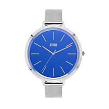 Storm Ladies' Blue Dial Stainless Steel Bracelet Watch - Product number 4477529