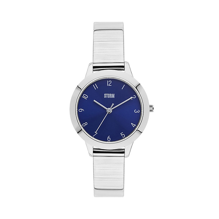 Storm Ladies' Blue Dial Slim Stainless Steel Bracelet Watch - Product number 4477618