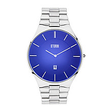 Storm Men's Round Blue Dial Stainless Steel Bracelet Watch - Product number 4477642