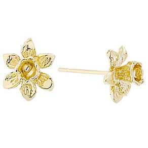 9ct Gold Daffodil Stud Earrings - Product number 4477758