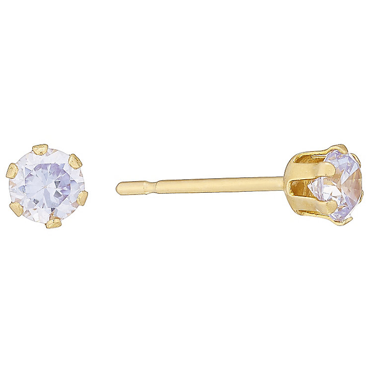 9ct Yellow Gold Cubic Zirconia Stud Earring - Product number 4478762