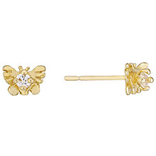9ct Gold Cubic Zirconia Butterfly Earrings - Product number 4478789