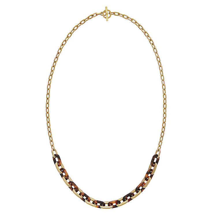 Michael Kors Gold Tone Tortoiseshell Necklace - Product number 4478819