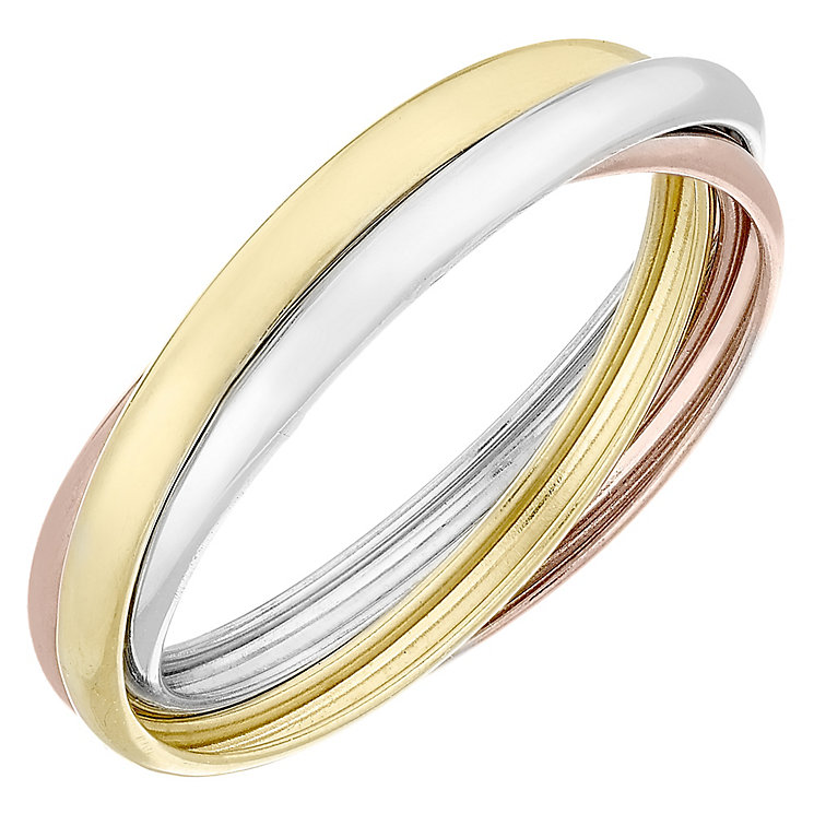 9ct gold 3 colour russian wedding ring h samuel