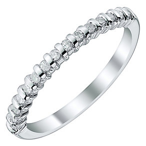 Ladies' Palladium 0.15 Carat Diamond Bar Set Band - Product number 4480147
