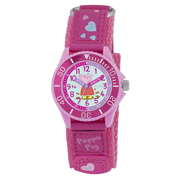 Peppa Pig Children's Time Teacher Pink Canvas Strap Watch - Product number 4480805