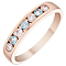9ct Rose Gold Blue Topaz & Cubic Zirconia Half Eternity Ring - Product number 4482697