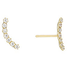 9ct Yellow Gold & Cubic Zirconia Contour Earrings - Product number 4482921