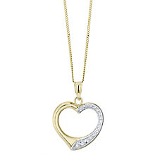 9 Carat Gold Two Tone Heart Pendant - Product number 4483189