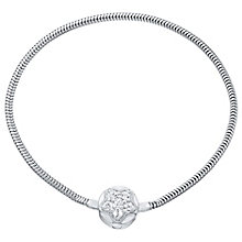 Kids Sterling Silver And Crystal Star Snap Bracelet - Product number 4483227