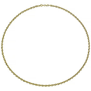 9ct Gold Twisted Sparkle Chain Necklace - Product number 4483235
