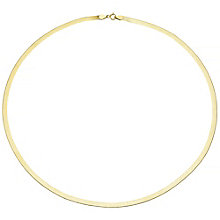 9ct Gold Flat Herringbone Necklace - Product number 4483243