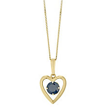9ct Yellow Gold Sapphire Heart Pendant - Product number 4487346