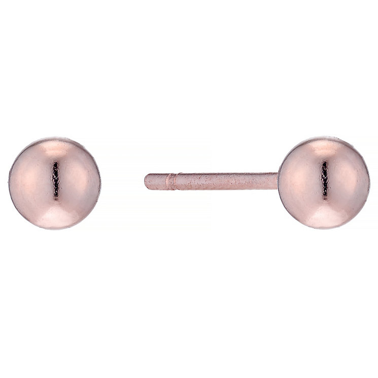 9ct Rose Gold 3mm Ball Stud Earrings - Product number 4487443
