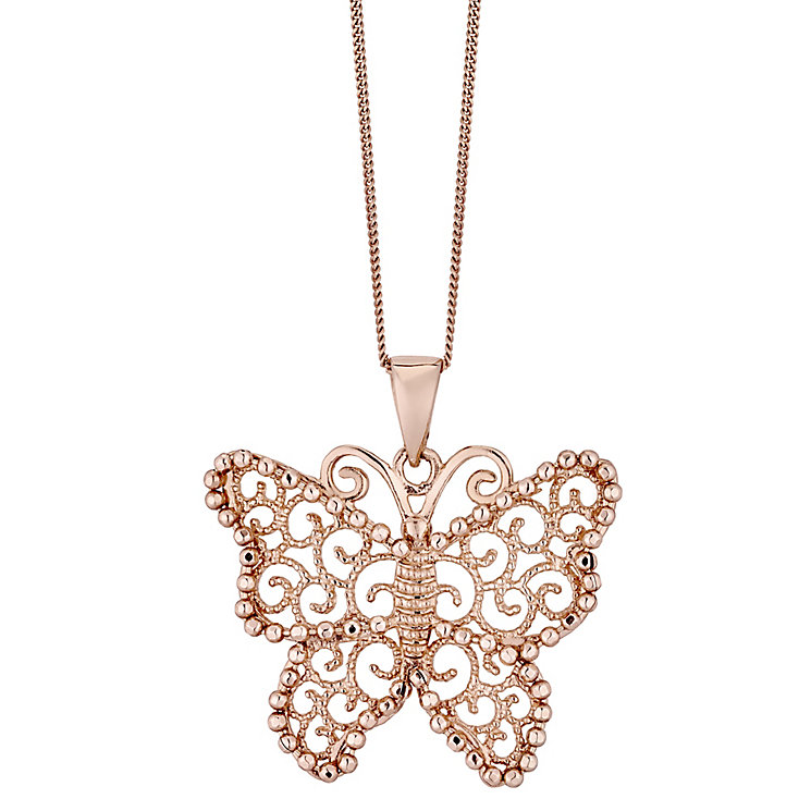 9ct Rose Gold Butterfly Pendant - Product number 4488210